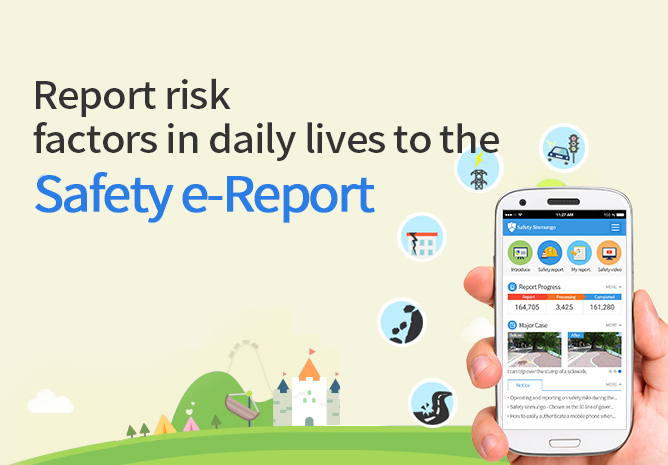 Report risk factors in daily lives to the Safety e-Report